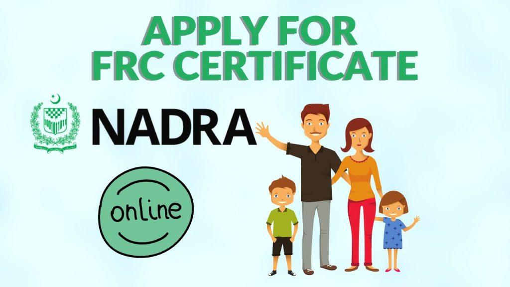 Apply for FRC Certificate
