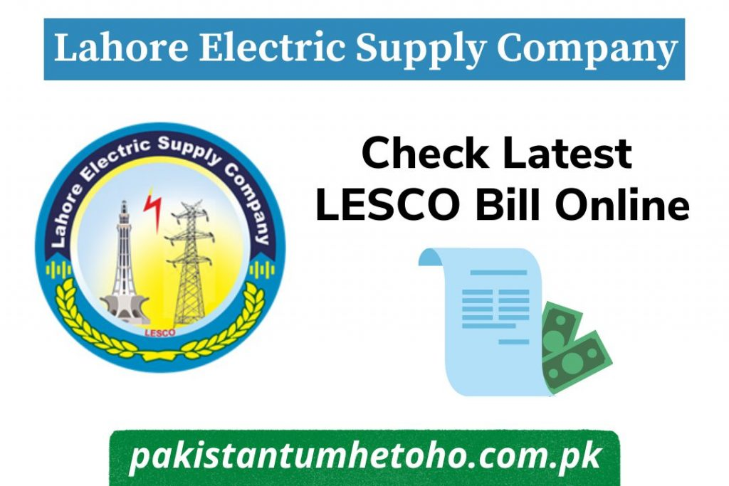 LESCO Bill Online Check   Duplicate, Download, SMS/Email Alert