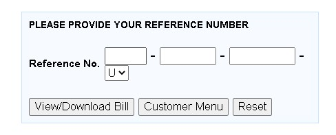 check bill by reference number